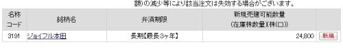 ジョイフル本田(3191)