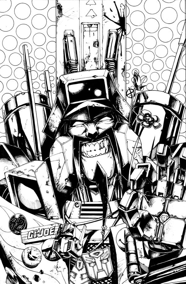 Optimus Prime #4 cover ink