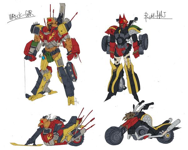 Junkions character design color