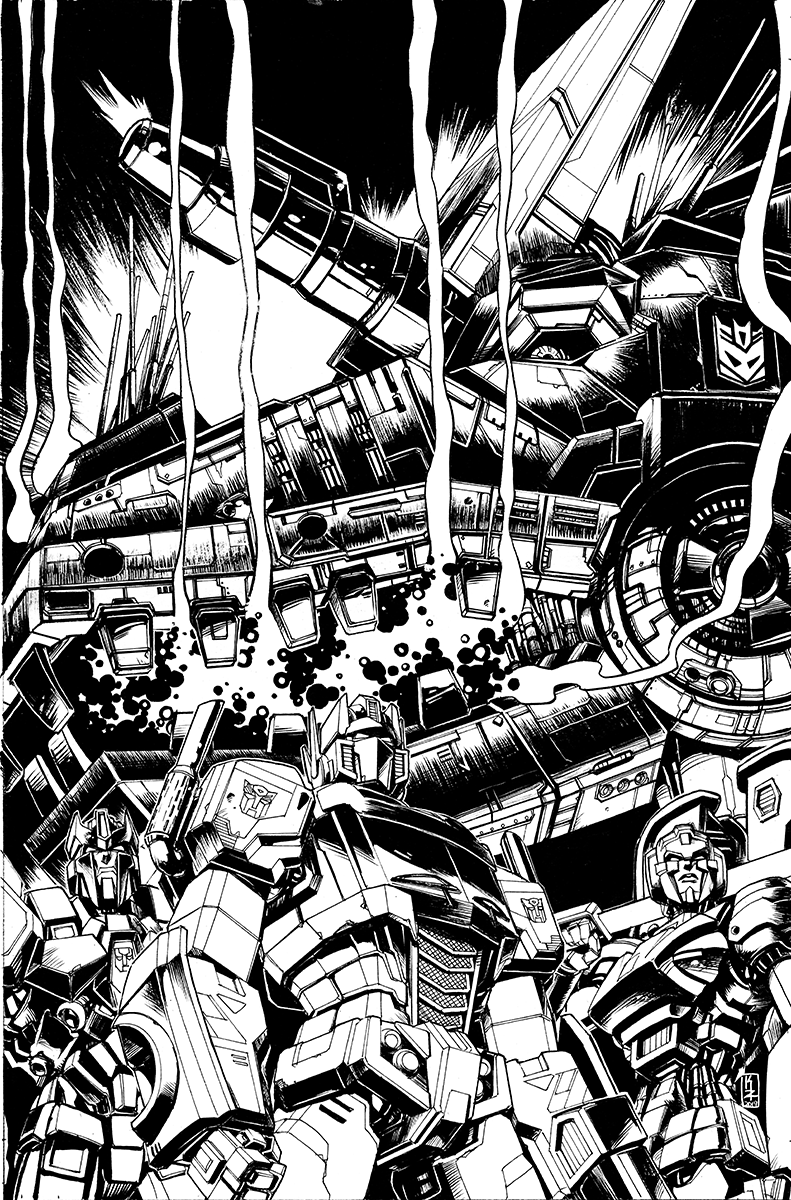 Optimus Prime #13 Cover lineart