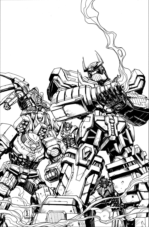 Avengers: Mech Strike #4 cover lineart