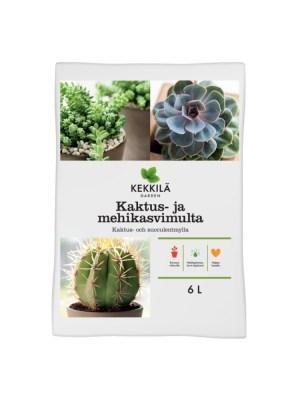 Грунт для семян, кактусов и суккулентов Кеккила 6 л