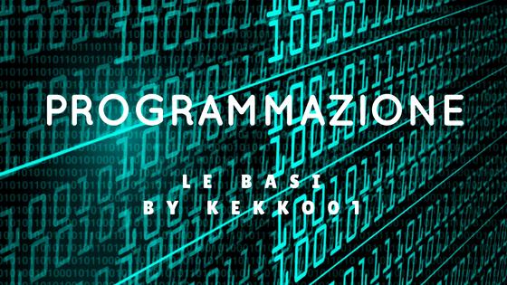 Programmazione: le basi