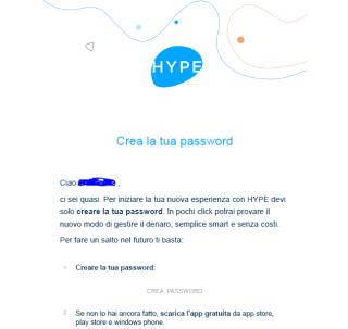 Attivazione della password