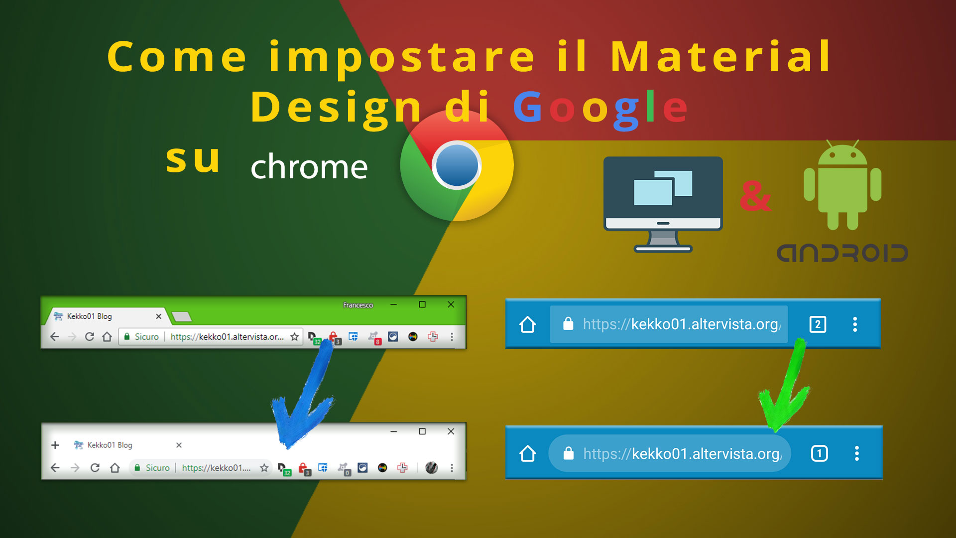 Come impostare il nuovo Material Design di Google su Chrome (PC & Android)