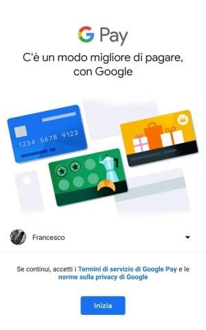 primo step - Google Pay