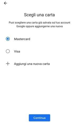 terzo step - Google Pay