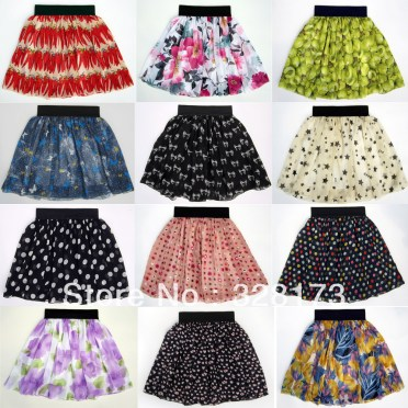 2013-spring-and-summer-fashion-female-a-vintage-high-waist-pleated-double-layer-chiffon-big-skirt