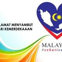 Selamat Menyambut Hari Kemerdekaan Malaysia ke 59 #SehatiSejiwa