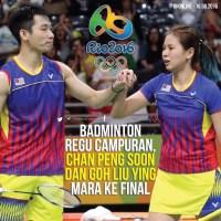 Rio Olympics 2016,! Harapan Malaysia Untuk Genggam Satu Lagi Pingat