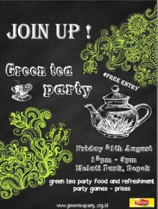 poster green tea party
