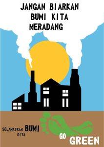 Poster Go Green Illustrator