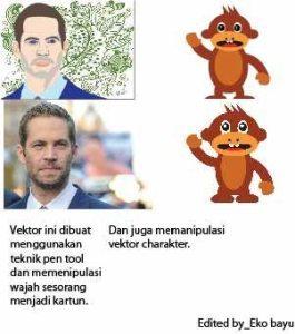Vektor wajah dan vektor karakter