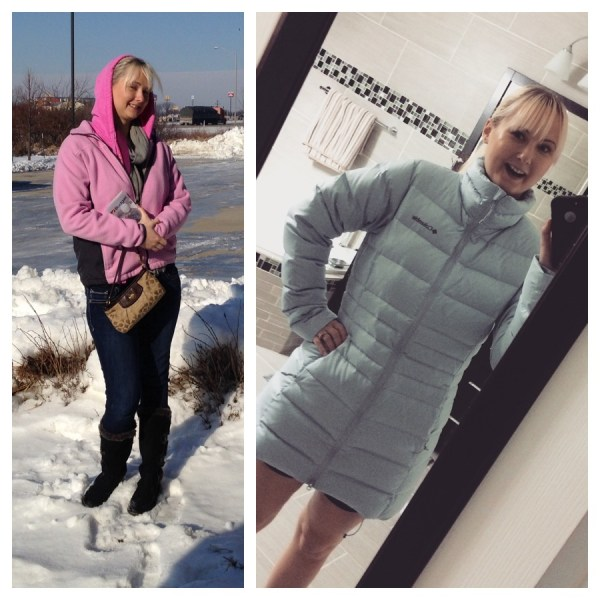 My layered sweaters in 14F weather, did't do much! And my new Columbia jacket!