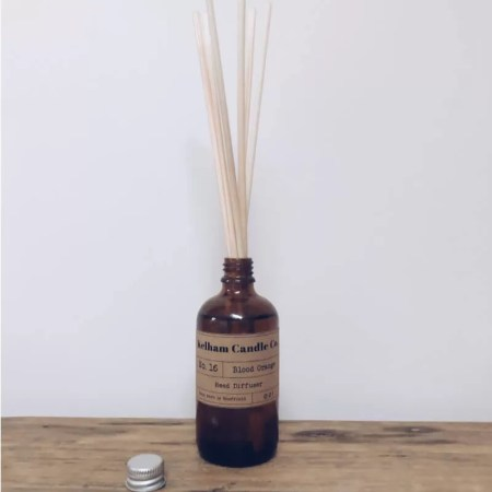 Orange scented reed diffuser with Kelham Candle Co hand made in Sheffield label