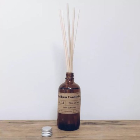 Pina Colada scented reed diffuser with Kelham Candle Co hand made in Sheffield label