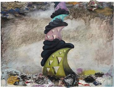 Phillip Allen, 'Scholarly glass jaw islands of meaning version 3000', 2011, oil on board. Image courtesy Kerlin Gallery.