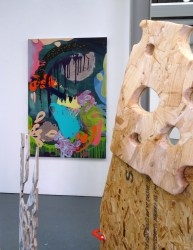 (foreground) Nancy Allen (background) Soojin Yoo in 'Assembly' at Chelsea College of Arts, London.