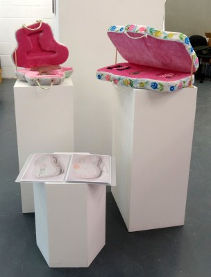 Niamh Cunningham, 2014, in 'Assembly' at Chelsea College of Arts, London.
