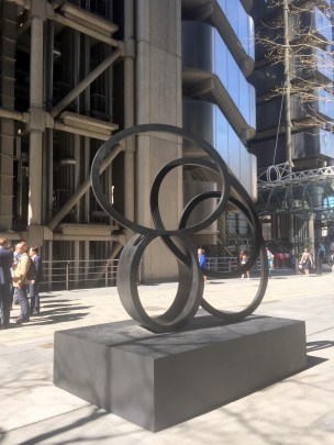 Nigel Hall, 'Southern Shade I; V', large scale sculpture in 'Sculpture in the City 2014', London. Photo credit Kelise Franclemont.