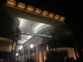 'I Haven't Changed my Mind in a Thousand Years', Beth J Ross, Lumiere light festival, Piccadilly/Burlington Arcade, London. Photo credit Kelise Franclemont.