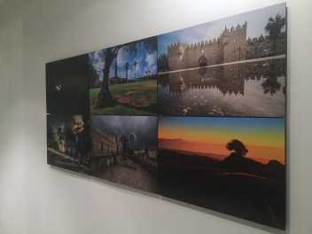 (l-r, top) Mohamad Abdeen, Obayda Jamal, Mohamad Abdeen. (l-r bottom) Abdallah Hawash, Khaled Salem, Abdallah Hawash, all 2015, photographic prints, in 'Jerusalem/Home' at P21 Gallery, London. Image courtesy the artist and P21 Gallery. Photo credit Kelise Franclemont.