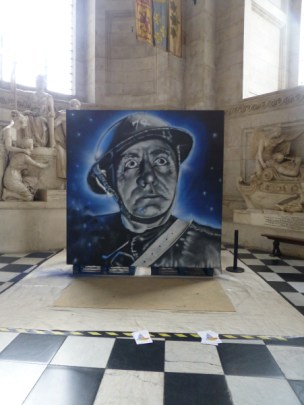 Robert Jeffs, 'St Paul's Watch', 2015, spraypaint on board, at St Paul's Cathedral, London. Image courtesy londoncallingblog.net.