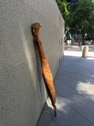 Enrico David, untitled, 2016 in Sculpture in the City 2016, London. Photo credit Kelise Franclemont.