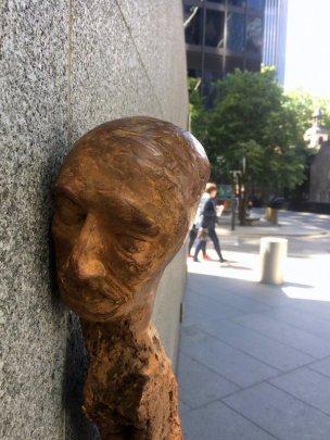 Enrico David, untitled (detail), 2016, in Sculpture in the City 2016, London. Photo credit Kelise Franclemont.