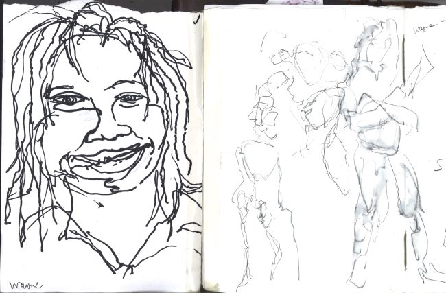 Kelise Franclemont, 'Wayne', study from London Shakespeare Workout, 15 December 2017, at HMP Pentonville, London.