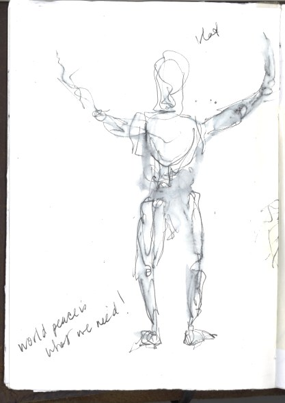 Kelise Franclemont, 'Peace is what we need!', study from London Shakespeare Workout, 15 December 2017, at HMP Pentonville, London.