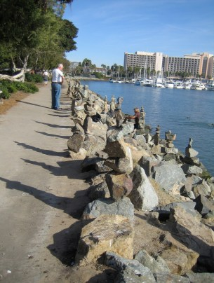 Lots of Rock Stacking