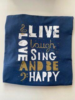 Live Love Sing Tee Back