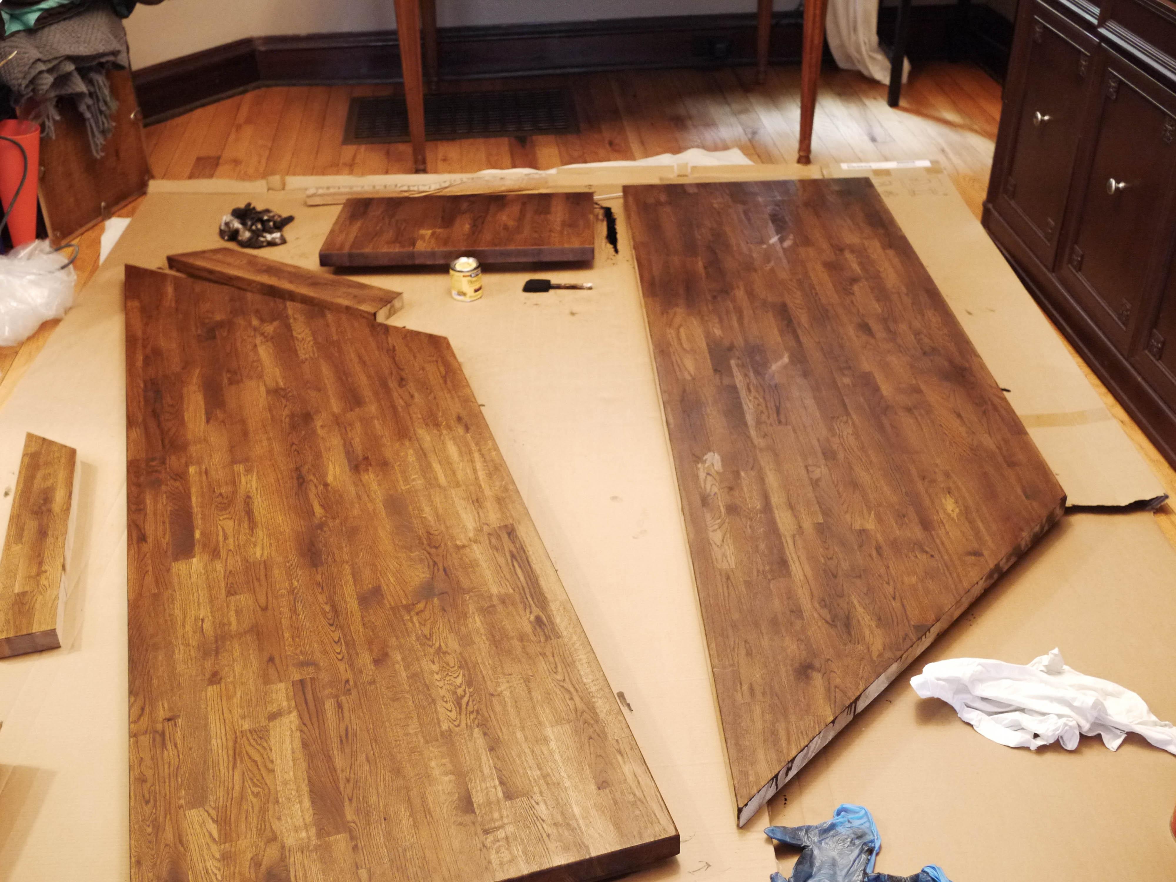 Ikea Butcherblock Countertops Part 1 Kelley Alex