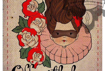 """Kelley Frisby Illustration Alice in Wonderland Queen """"Off With Her Head"""""""