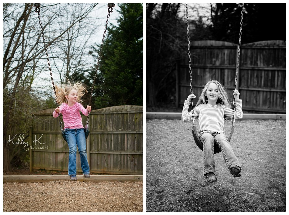Child on Swing | KelleyKPhotography - Smyrna, GA