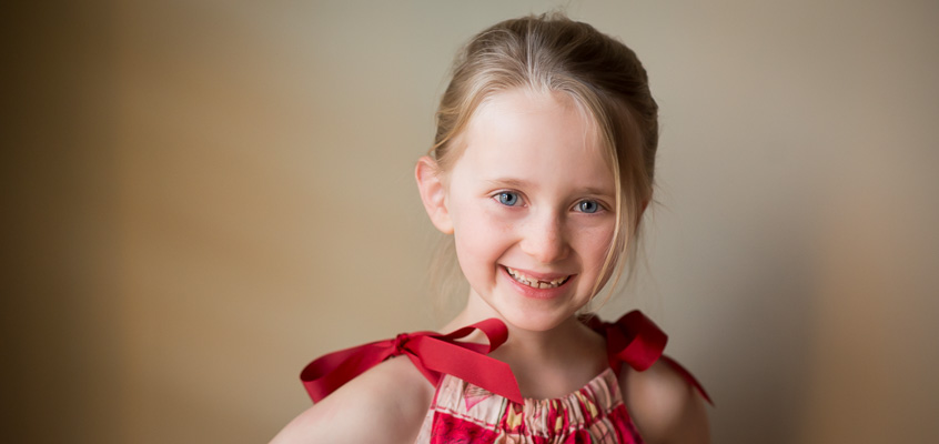 Girl Valentine's Portrait | Kelley K Photography