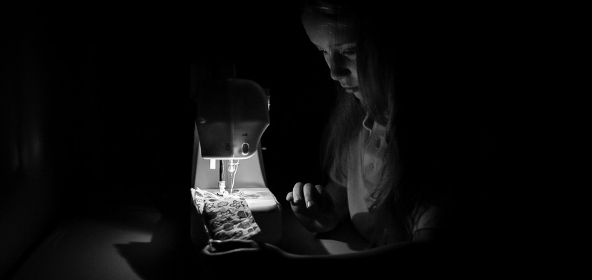 Sewing in Low-Light | Kelley K Photography