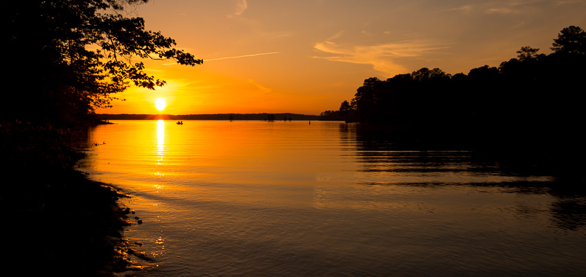 Sunset over Lake | Kelley K Photography