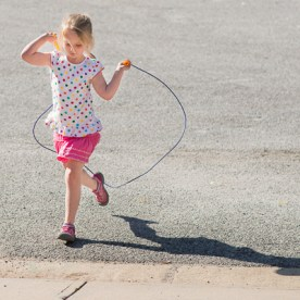 Girl jumping rope | Kelley K Photography
