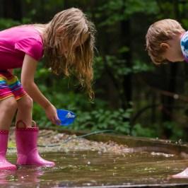 Girls playing in rain | Kelley K Photography