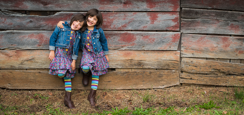 Fun Family Session with Twin Girls