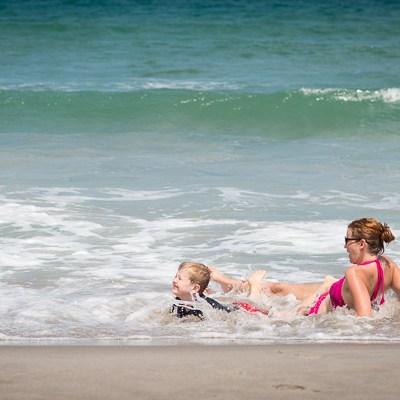 Mom and Son at Beach | Kelley K Photography