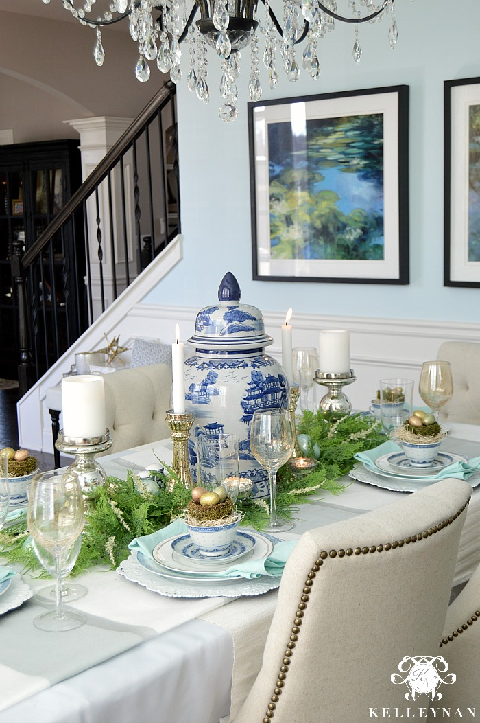 Blue And White Easter Table Kelley Nan