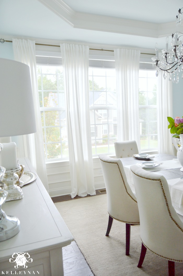 Five Times to Go White in Your Home - Kelley Nan on Farmhouse:-Cra1Rtrksu= Dining Room Curtains  id=90451