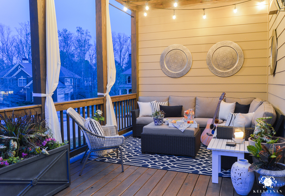 A Porch Makeover and a Relaxing Date Night on the Deck ... on Living Spaces Outdoor Sectional id=77990