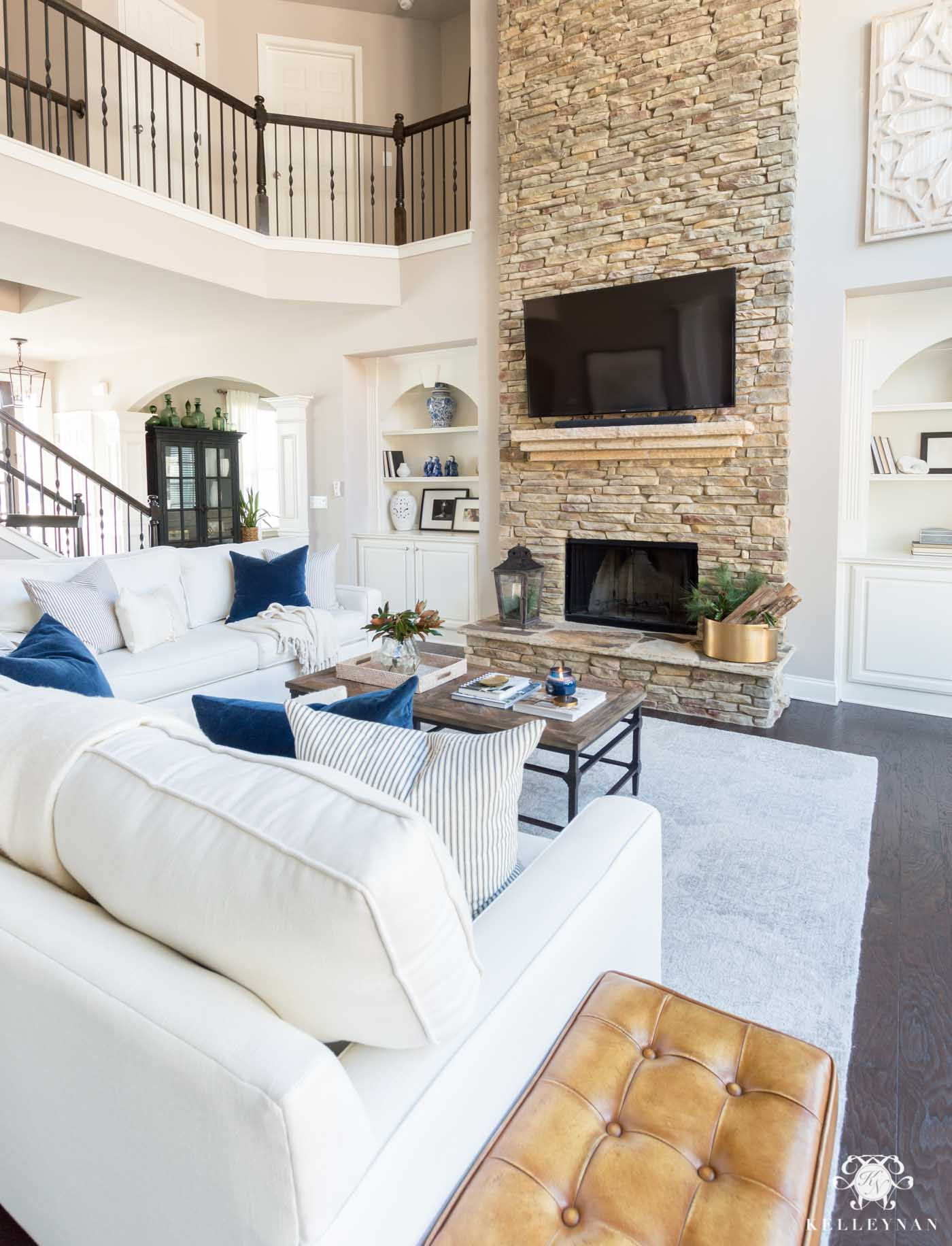 Open Concept Family Room: Casual, Comfortable Living Room ... on Fireplace Casual Living id=38716