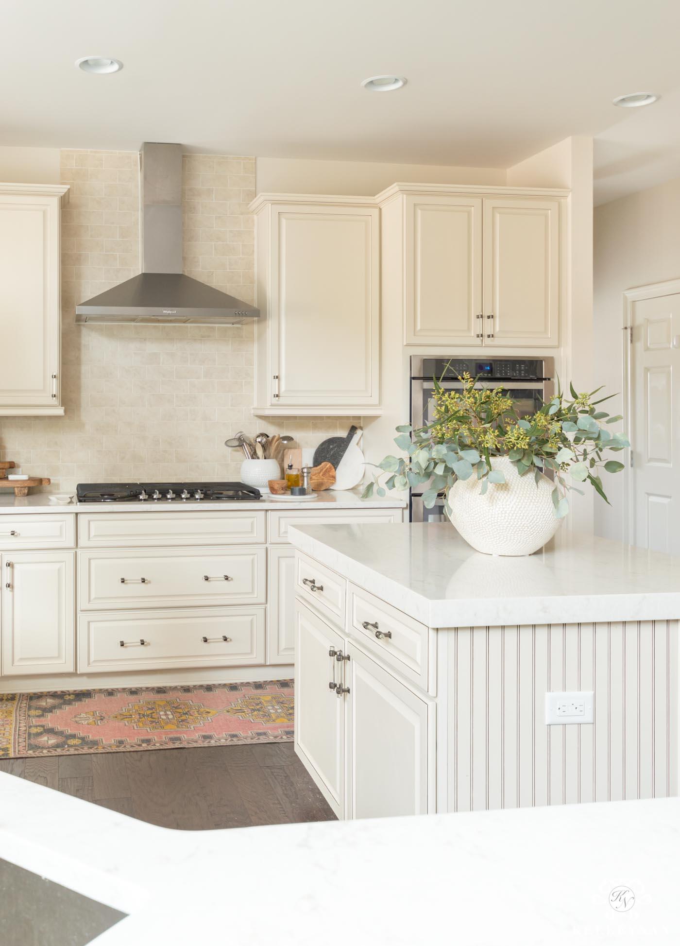 Kitchen Island Decor: 6 Easy Styling Tips | Kelley Nan on Kitchen Counter Decor  id=96984