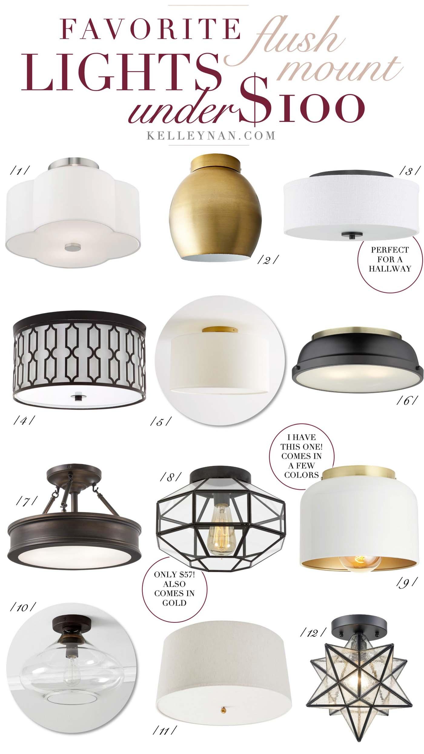 inexpensive flush mount lighting under