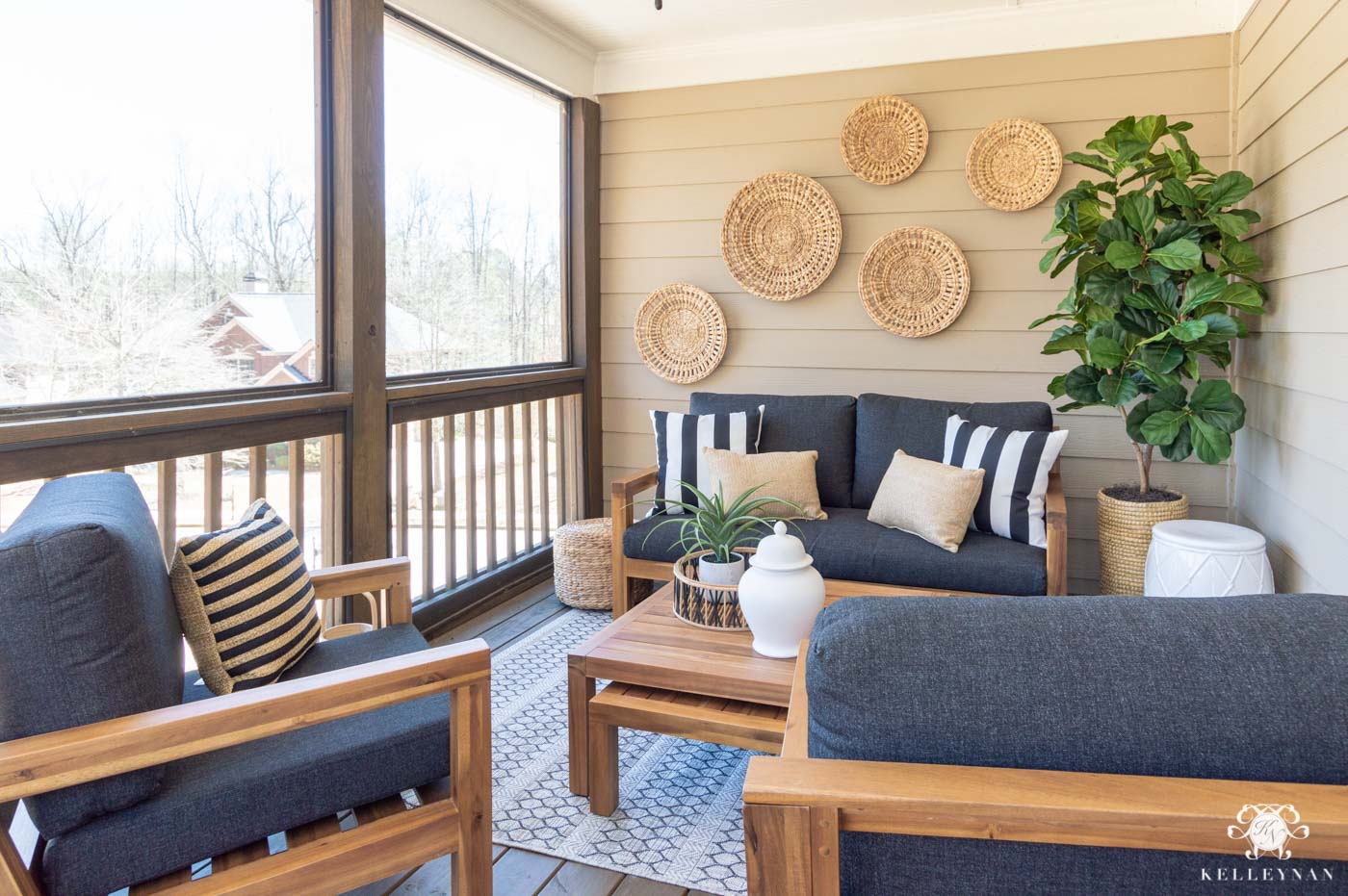 screened in porch before after